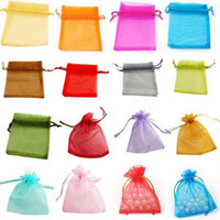 Wholesale Wholesale Party Paper Bags - 600 Pcs Organza Gift Bag Wedding Favor Christmas Party 7X9 cm Bags Mix Color or Choose Color