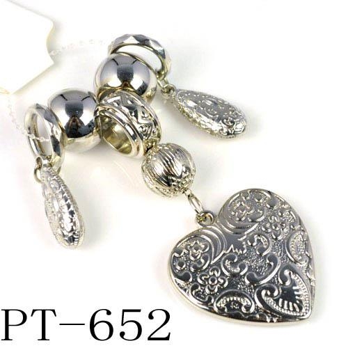 Schmuck westlichen Zubehör, Schal Set Perlen und Herzkomponenten PT-652