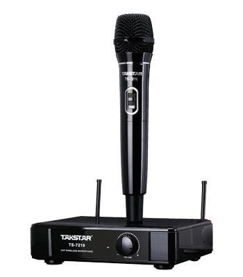 Presentes de natal Nova Marca Takstar TS-7210 UHF Sistema de Microfone Sem Fio 790 MHz-805 MHz Operando