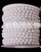 perle girlande hochzeit dekorationen großhandel-10 Meter weiße Farbe Pearl Garland Hochzeit Herzstück Dekoration 4mm