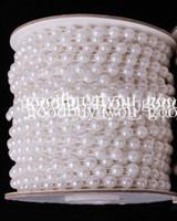inci çelenk düğün dekorasyonları toptan satış-10 Metre Beyaz Renk İnci Garland Düğün Centerpiece Dekorasyon 4mm