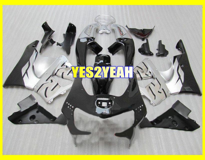 ABS Kit de cuerpo de carenado negro blanco para HONDA CBR900RR 98 99 CBR 900 RR CBR900 CBR 900RR 919 1998 de carenados + regalos