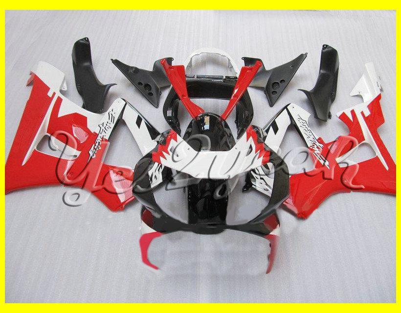 Rot weiß schwarz vollverkleidung kit für honda cbr900rr 00 01 cbr-900rr cbr 900rr 929 2000 2001 spritzguss verkleidungen gesetzt