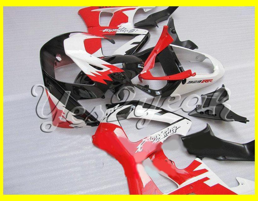 Kit de Carenagem Completa Preto Branco Vermelho Para HONDA CBR900RR 00 01 CBR-900RR CBR 900RR 929 2000 2001 Molde de injeção conjunto de Carenagens