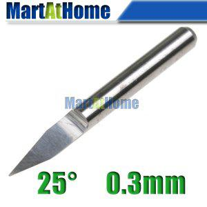 10pcs New Carbide PCB CNC macchina per incidere Router V bit 25 gradi 0.3mm # SM451 @ CF