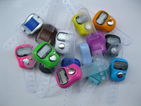 Wholesale Digital Finger Tally Counters - Muslim Finger Ring Tally Counter Digital Tasbeeh Tasbih (DHL Free Shipping)