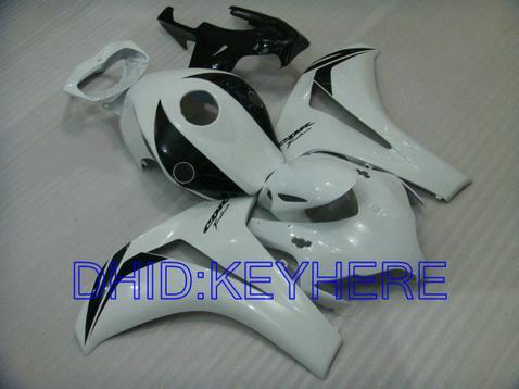 Fullset branco preto ABS kit motorcyclefairing para Honda CBR1000RR 2008-2011 CBR 1000RR 08 09 10 11