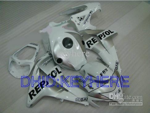 ホンダCBR1000RR 2008 2009 2011 CBR 1000 08 09 10 11 CBR1000 1000RRのためのホワイトレポートフェアリングキット