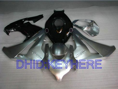 혼다 CBR1000RR 용 실버 블랙 페어링 키트 2008 2009 2010 2011 CBR 1000 08 09 10 11 CBR1000 1000RR