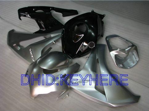 Kit de carénage noir argenté pour Honda CBR1000RR 2008 2009 2010 2011 CBR 1000 08 09 10 11 CBR1000 1000RR