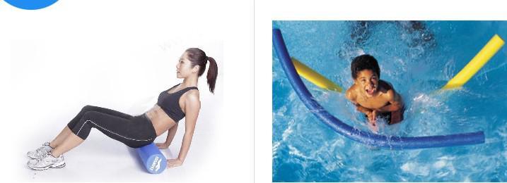 JOINFIT 18 '' Pilates yoga rodillo de espuma deporte columna columna barra de equilibrio barra de natación rodillo azul regalo