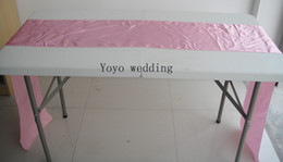 Light Pink 80GSM Thin Satin Table Runner 100PCS A Lot For  Wedding,Party,Hotel Decoration Use