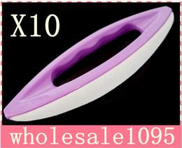 Wholesale Nail Supply Buffer - Free shipping   Wholesale nail art leather soft purple Buffer beauty nail supplies