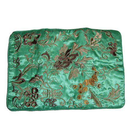 Fijne borduurwerk bloem zijde sieraden roll tas vouwen draagbare grote vrouwen cosmetische opbergtas trekkers make-up tas /