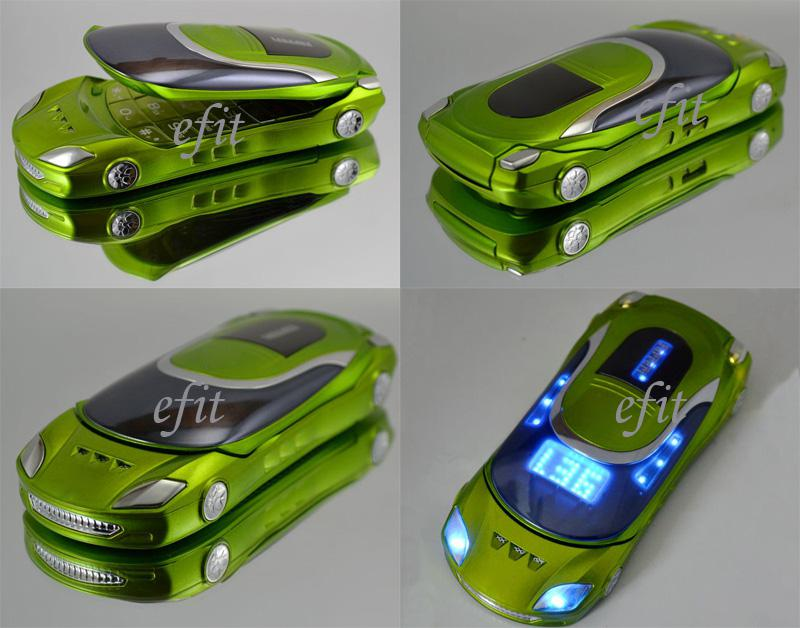 W8 efit Car Shape Style X8 Q8 Quad Band MINI FM Bluetooth Dual Sim ...