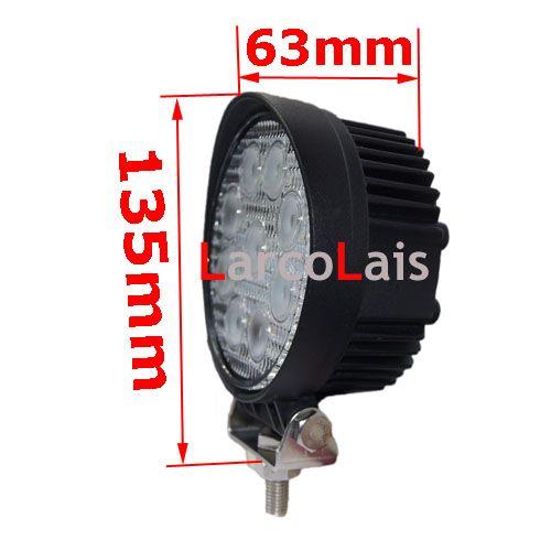 "4"" 27W LED Work Light Lamp Truck Trailer SUV JEEP Offroads Boat Worklight 12V 24V OffRoad White"