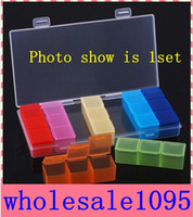 Wholesale Pill Cases Weekly - Free shipping Rainbow Portable Seven Days Pill Box Travel Medicine Case Weekly pill Cases