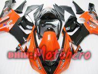 Wholesale Orange Kawasaki Fairing Kits - Fairings For KAWASAKI ZX6R 05-06 ZX-6R 2005-2006 6R 05 06 ZX 6R 636 2005 2006 orange black Fairing kit