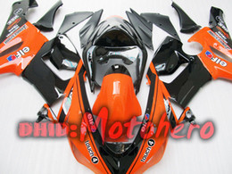 Fairings For KAWASAKI ZX6R 05 06 ZX 6R 2005 2006 636 Orange Black Fairing Kit