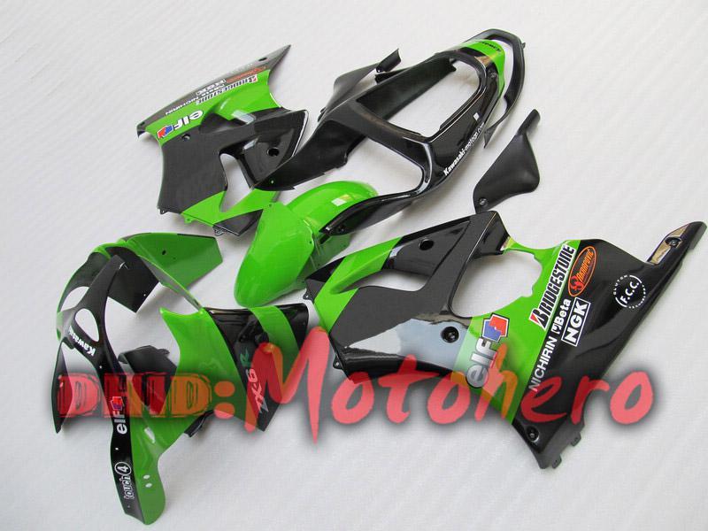 Injection molding fairings For KAWASAKI ZX6R 00-02 ZX-6R 2000-2002 6R 00 02 ZX 6R 2000 2002 00 01 02 fairing kit green black R88 Fairing
