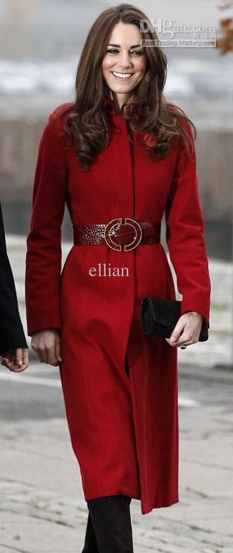 2013 novo casaco de inverno de lã Princesa casaco longo design kate middleton mulheres