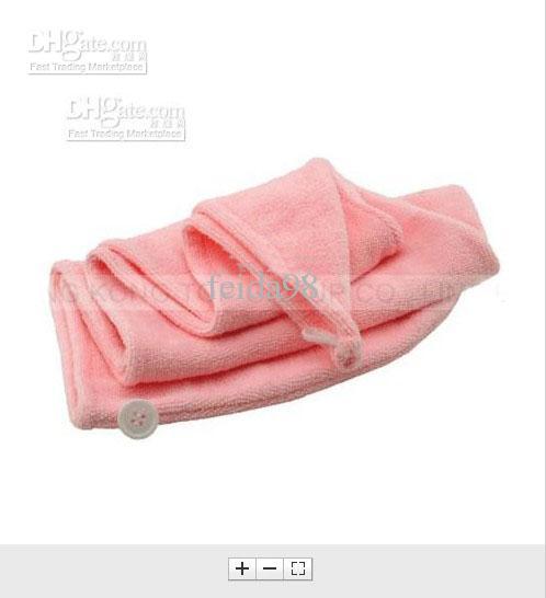 10pcs / lot 60x22cm microfibre feuille de bain serviette de plage Serviettes absorbant cheveux chapeau chapeau sec