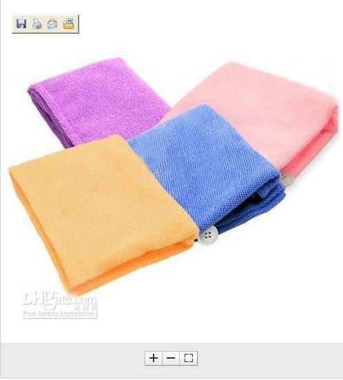 10 stks / partij 60x22cm Microfiber Badblad Strandhanddoeken Handdoeken Absorberende Haar Droge Hoed GLB