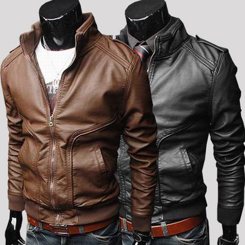 New Leather Jackets For Men Stylish Motorcycle Pu Whinter Jackets ...