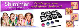 Wholesale Shimmer Body Art Wholesale - mom and Guys Shimmer Glitter Tattoos - Create Your Own Professional Body Art 60sets