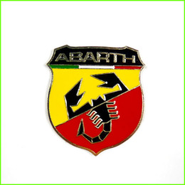 Wholesale Emblem Abarth - FEELDO Brand New Metal 3D Badge Emblem Sticker Decal for Fiat Abarth 124 125 125 500 SKU:2923