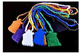 qualidade da pérola aaa Desconto 5 pcs EUA populares GOODWOOD NYC Jesus colar de 8 cores de madeira colar de madeira