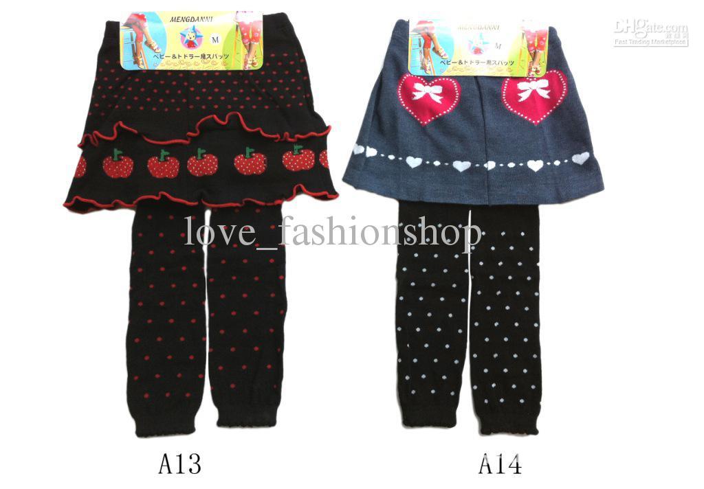 Mädchen LeggingsTights mit Röcken Culottes Großhandel BabyKids Kleidung Kinderrock Mädchen Hose