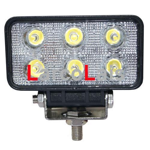 4 SZTUK 18 W 12 V 24 V 4WD LED Spot Work Flood Light do ciężarówki ATV SUV Jeep Łódź Offroad Tractor White