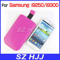 Wholesale Galaxy Sii Phone Covers - Mobile Phone Bags Cover For Samsung Galaxy S3 SII i9300 i9250 Pull Tab Ultra Slim Pouch