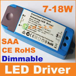 Wholesale Dimmable Constant Current - led dimmable driver 7W to 18W AC110V AC240V constant current traic dimmable power SAA CE RoHS