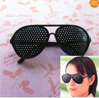Wholesale Vision Eye Exercises - Pinhole Glasses Vision Eyesight Improve Eyes Exercise New Good Quality Hot Selling Easy To Carry 10pcs