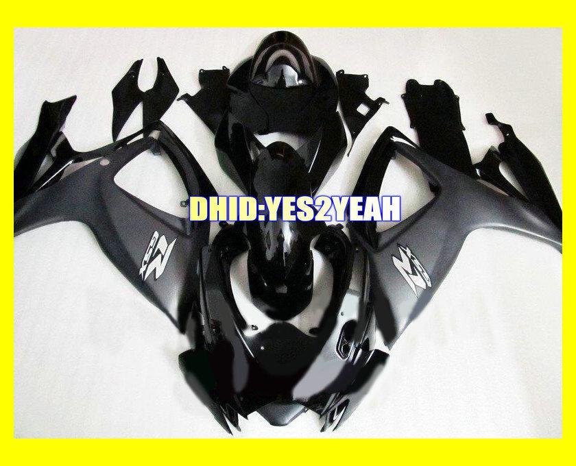Black Fairing body kit for SUZUKI GSXR600 750 06 07 Bodywork GSXR 600 GSXR 750 K6 2006 2007 Fairings set