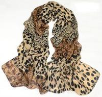 Wholesale White Velvet Scarves - cotton infinity scarf New Woman Scarf Europe Leopard Scarf Velvet Chiffon Scarf 3colors mix 6pcs lot