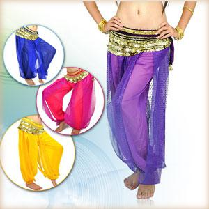 top popular Wholesales -- New Womens Glitter sexy Belly dance costume Sequins Yoga bloomers Pants Trousers 2019
