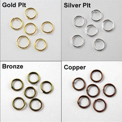 4mm Jump Rings Open Connectors Gold Silver Bronze Copper Connectors 6Colors Hot sell 2000pcs/lot DIY