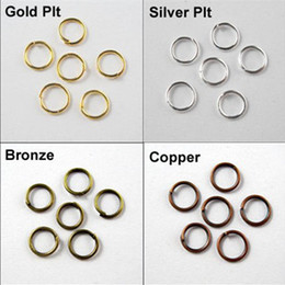 Wholesale Iron Sell - 4mm Jump Rings Open Connectors Gold Silver Bronze Copper Connectors 6Colors Hot sell 2000pcs lot DIY