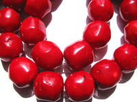 Wholesale Drum Coral Beads - 2strands 10-20mm high quality Genuine Coral beads nuggets freeform drum rondelle loose bead