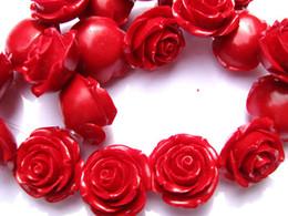 Deutschland Großhandelsgroße Blume rosafarbene rote Koralle mischte multi Cabochons Plastikharz gergous Korn 36mm 32pcs supplier plastic rose flower beads Versorgung