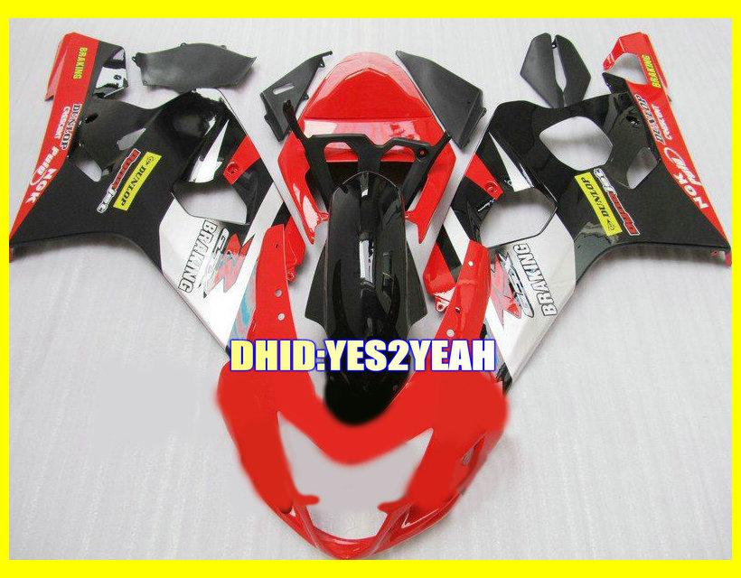 Kit de carroçaria para SUZUKI GSXR600 750 04 05 K4 Carroçaria GSX-R600 750 2004 2005 GSXR 600 GSXR750 Conjunto de carenagens para motociclos + 7 compartimentos