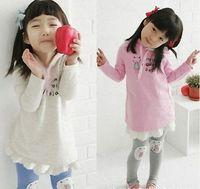 Wholesale Small Suit Coat Children - Wholesale - The girls small cat fashion children suit dress + Leggings Fashion Set