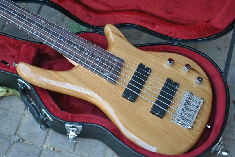 6 Saiten Bassgitarre Palisander-Griffbrett natürliche elektrische Bassgitarre Chinese Gitarre