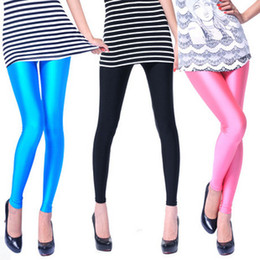 Wholesale Candy Color Stretch Woman Pants - NEW Women Leggings Skinny Pencil Pants Spring Autumn Tight Trousers Candy Color Stretch Legging Tights Free Shipping