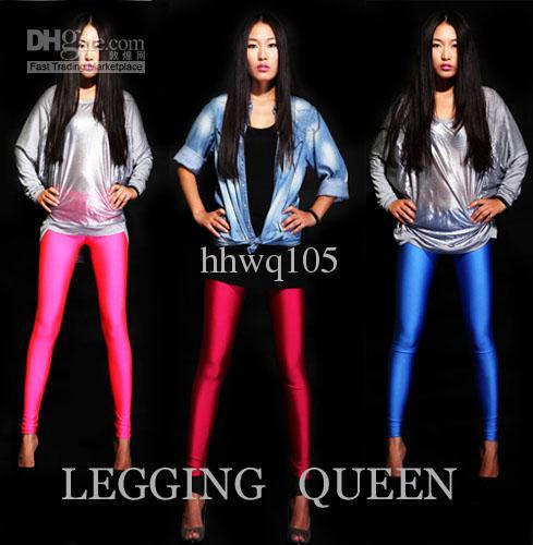 NEUE Frauen Leggings Dünne Bleistift Hosen Frühling Herbst Enge Hosen Candy Farbe Stretch Legging Strumpfhosen Freies Verschiffen