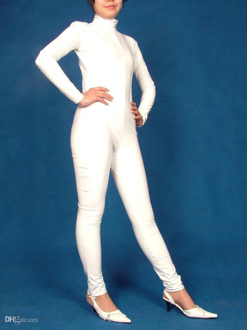 Pro Terno Clubwear Sexy Sexy Olhar Molhado PVC Catsuit Fancy Dress Adulto Terno Tamanho
