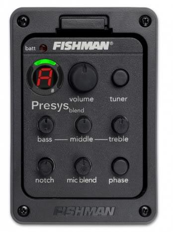 best selling Fishman presys blend 301 Dual Mode Guitar Preamp EQ Tuner Piezo Pickup Equalizer System With Mic Beat Board In Stock